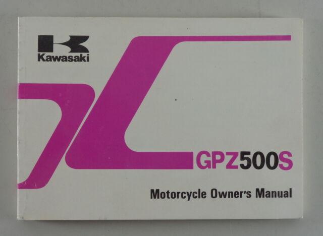 Owner U0026 39 S Manual  Handbook Kawasaki Gpz 500 S Ex500 D1  E1