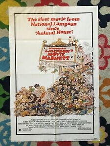 NATIONAL-LAMPOON-039-S-MOVIE-MADNESS-1982-original-one-sheet-poster-good-cond