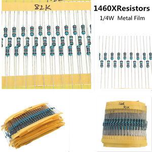 1460pcs-73-Values-1-4W-1-1R-to-1M-Metal-Film-Resistor-Assortment-Kit-Resistors
