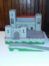 Vintage Wooden Medieval Toy Play Castle West Germany Drawbridge