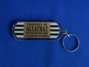 San Francisco Key Chain Souvenir -  Property of Alcatraz Penitentiary Unlisted #