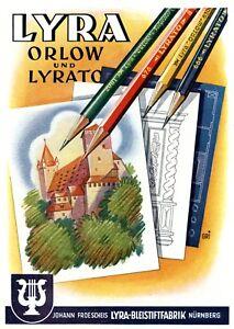 Charitable Bleistift Fabrik Lyra Nürnberg Reklame 1942 Froeschei Werbung Froescheis Jade White Art Posters