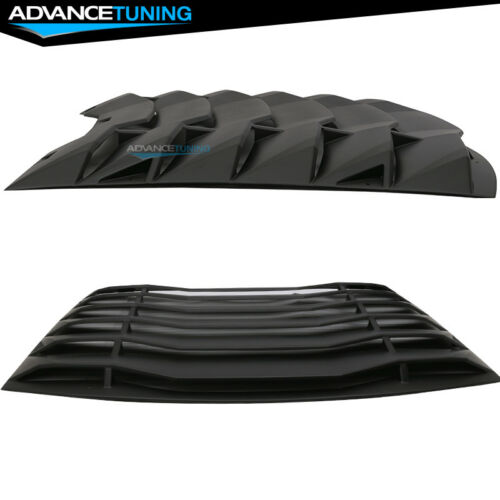 Fits 11-20 Dodge Charger Ikon Style Rear Window Louver Cover Vent Black ABS