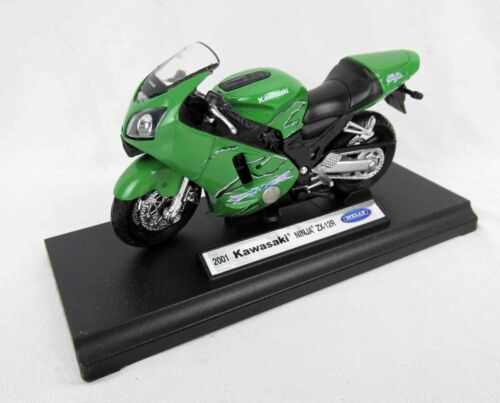 Kawasaki Ninja ZX-12R 2001 Motorrad Modell von Welly im Maßstab 1:18
