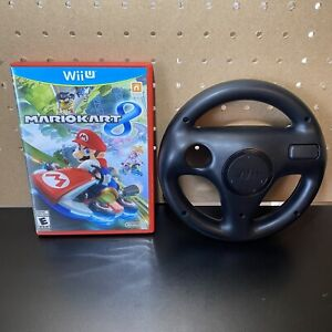 Mario Kart 8 (Nintendo Wii U, 2014) Complete With Black OEM Steering Wheel