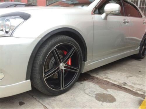 2x 1.5m GOMMA AUTO RUOTA BARRE DI PROTEZIONE PARAFANGO BARRE ornamentali Carbon Fiber stile