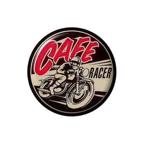 Cafe Racer Button Badge Motorbike Rocker Teddy Boy Biker Punk Fancy Dress 2.5cm