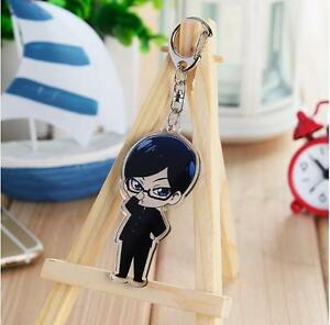 Anime Sakamoto desu ga Costume Cosplay Keychain Key Ring Cute Gift Japanese