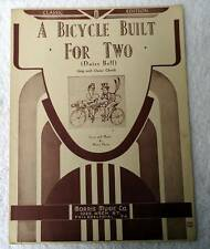 4 DIFFERENT SHEET MUSIC BICYCLE BUILT FOR TWO TWO HEARTS MOONLIGHT VINTAGE #2J