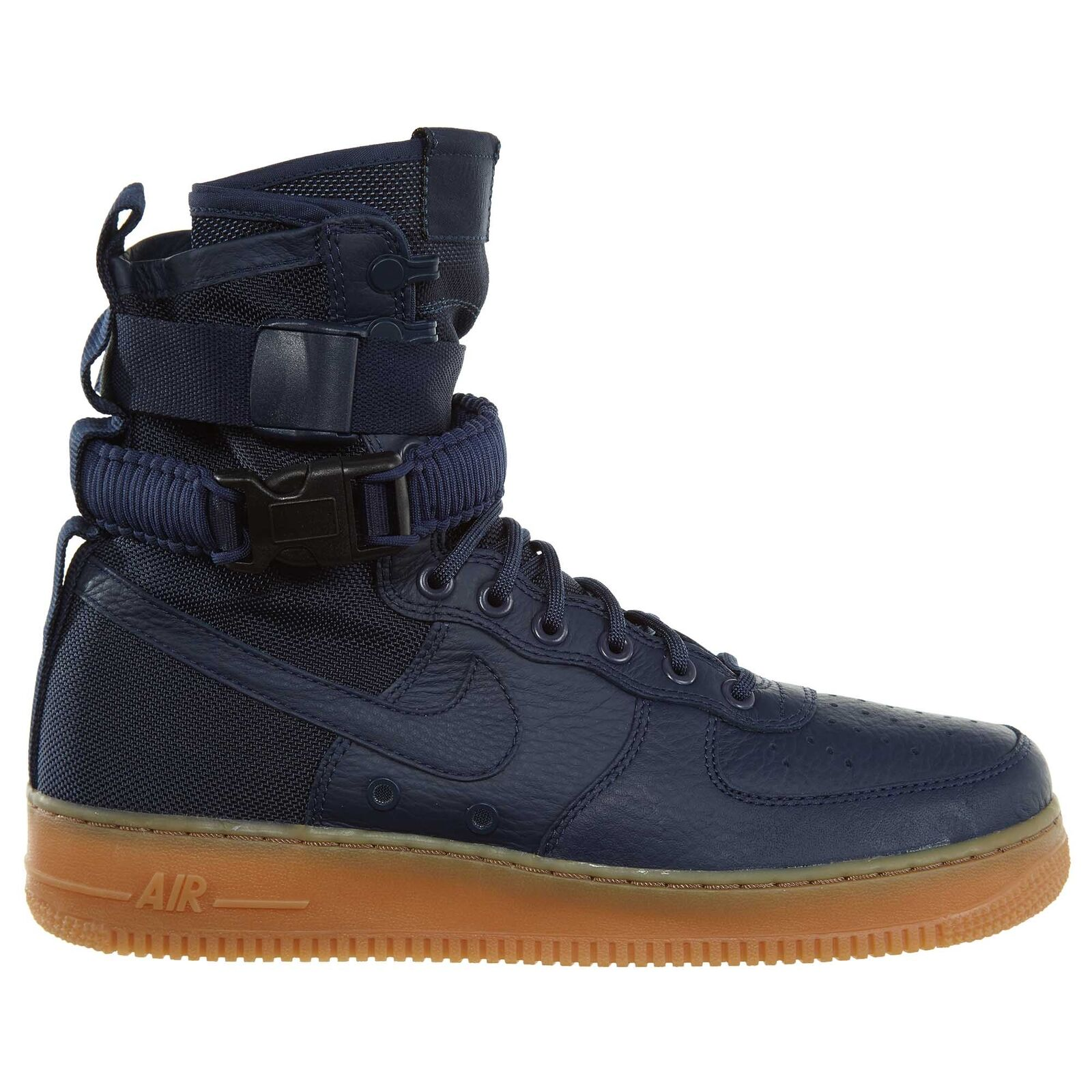 Nike SF Air Force 1 Mens 864024-400 Midnight Navy Gum Leather shoes Size 10