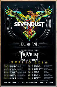 Image Is Loading Sevendust Trivium Kill The Flaw Tour 2016 Ltd