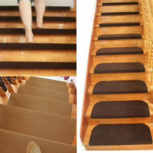 1 7 13pcs Adhesive Carpet Stair Treads Mat Non Slip Step