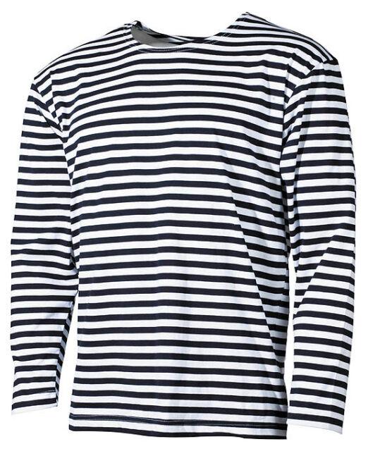 Russisches Marine T-Shirt langarm Longsleeve blau-weiss S-XXL