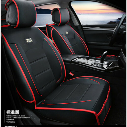 Deluxe Car Interior Accessories PU Leather Seat Cover Full Set Cushion 5-Seats