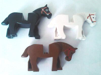 3 x LEGO HORSES ANIMALS