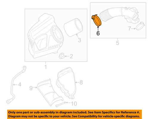 AUDI OEM 05-16 A6 Quattro Air Cleaner Intake-Duct Tube Hose Clamp N0245133