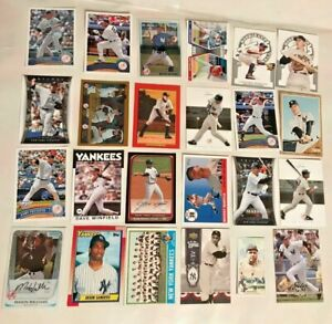 MLB-Lot-Of-24-Different-New-York-Yankees-cards-Mantle-Jeter-Ruth-A-rod