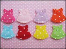 "80 Cute Padded Felt 1"" Baby Skirt w/polka dots Applique AO033"