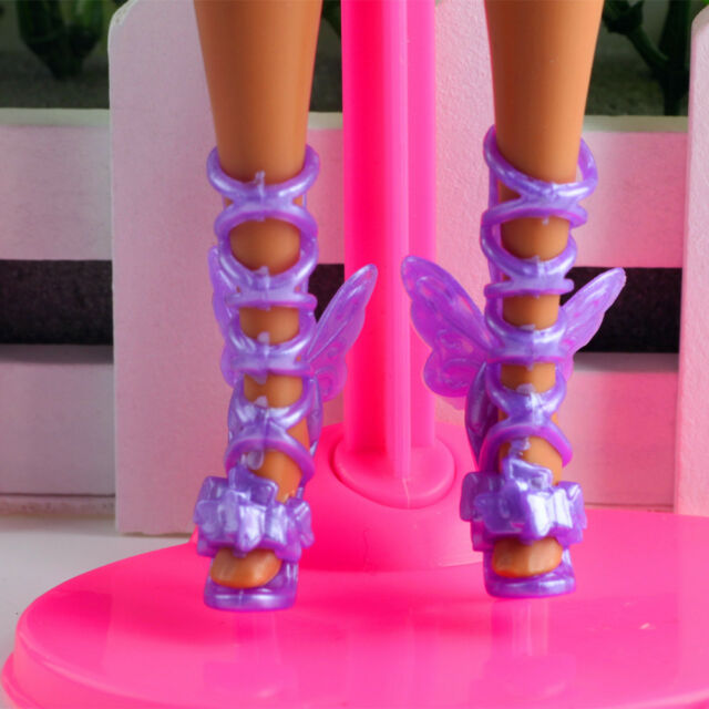 hot High quality Original 10 pairs boots shoes for Barbie Doll Party a432