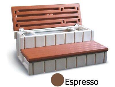 """NEW Confer Plastics 36"""" Spa Steps w/ Convenient Large Storage Compartment"""