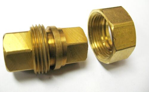 "1pc 3 piece Union Coupling Brass Pipe Fitting 1//4/"" NPT Air Gas MettleAir 104-B"