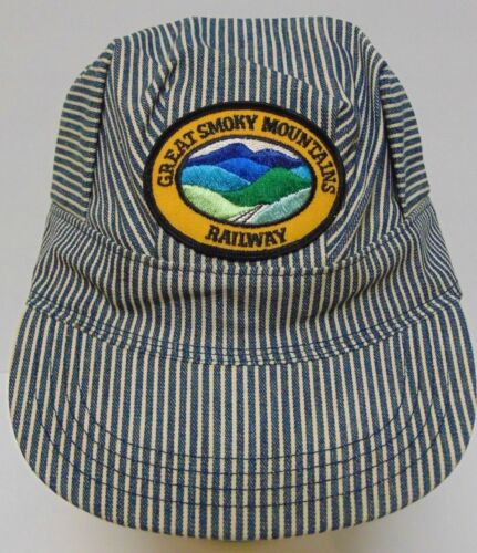 ... Vintage 1980s GREAT SMOKY MOUNTAINS RAILROAD CONDUCTER SNAPBACK TRUCKER  HAT USA 8a959efffb95