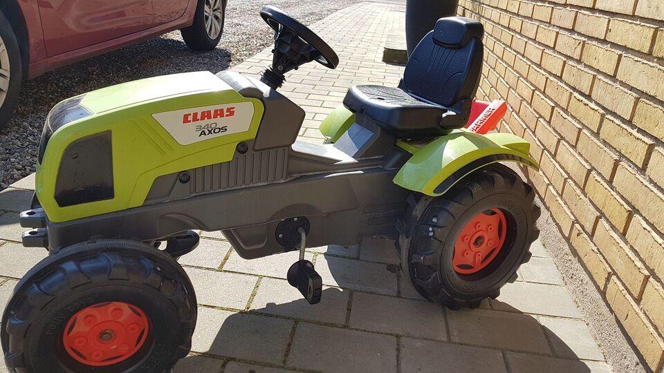 Traktor, ROLLY TOY pedaltraktor med vogn, Rolly toy 3-6 år
