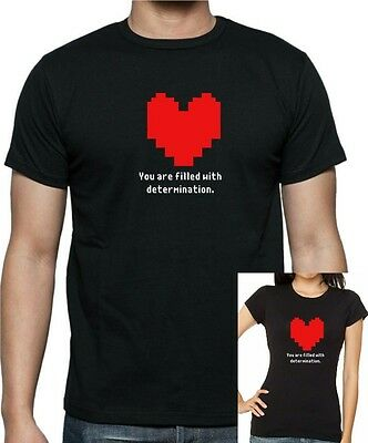 Women's and Kids inspired UNDERTALE : Heart Determination T-shirt...FREE UK POST