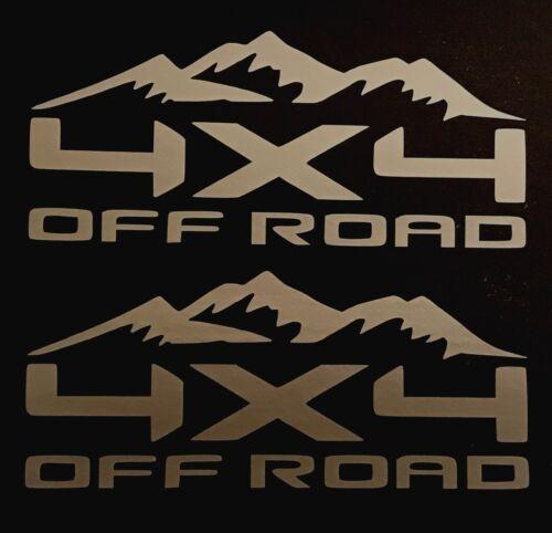 2 NEW 4X4 OFF ROAD DECAL STICKER 4WD TRUCK FORD F150 CHEVY SILVERADO DODGE RAM