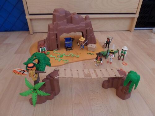 Playmobil Alligatorenschlucht Goldmine Hängebrücke