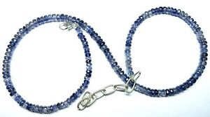 """Natural Iolite Gemstone Roundel Faceted Beads 19.5"""" NECKLACE 4.5-5MM 82 CT S18"""