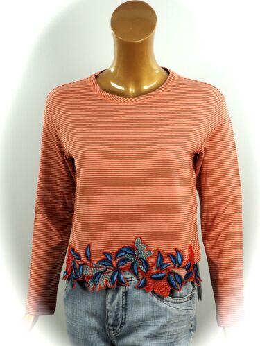 MARCCAIN  Sweatshirt N1//34 N4//40 NEU ~ Pulli mit Stickerei und Perlen Gr