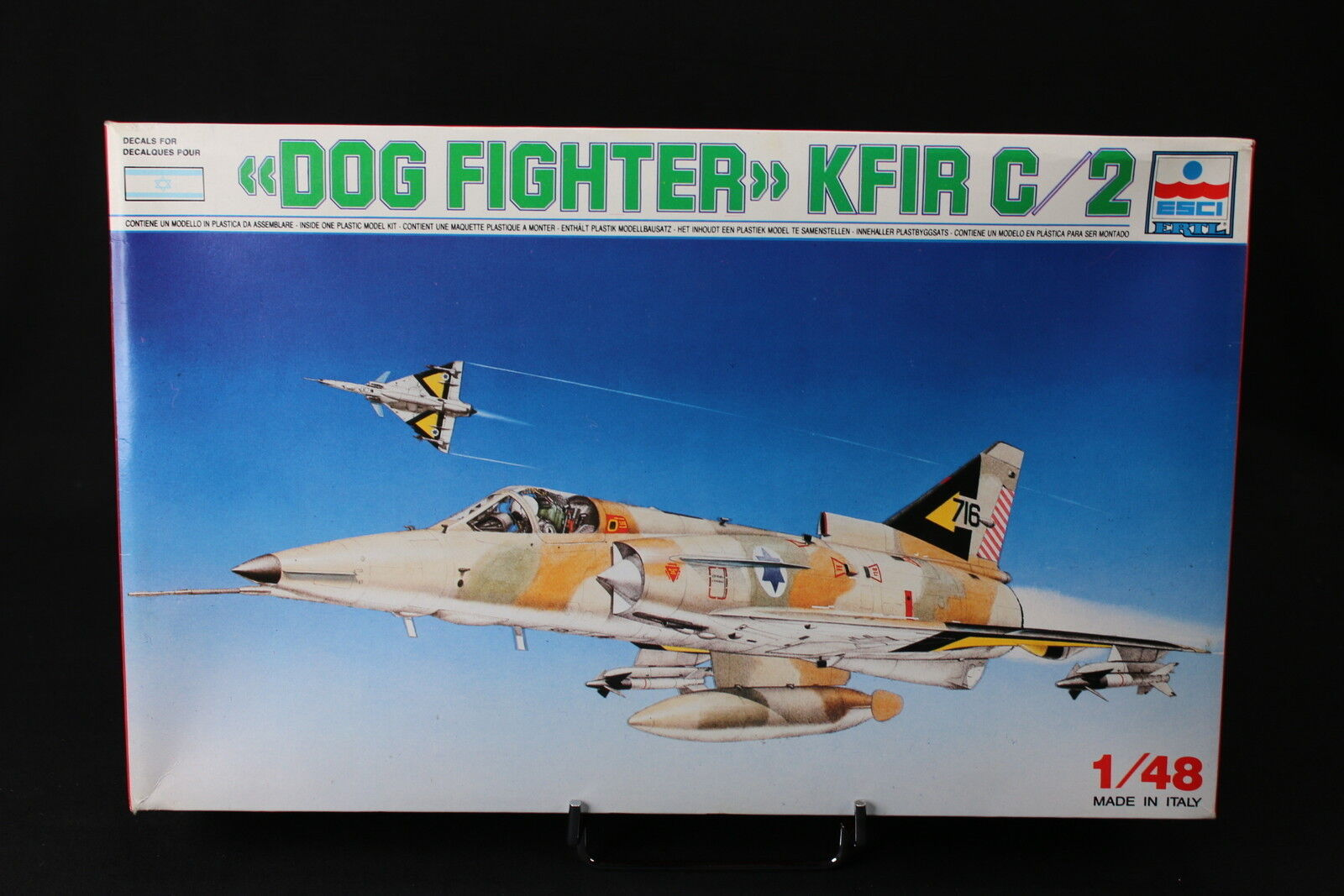 YA025 ESCI 1 48 maquette avion 4007 Dog Fighter KFIR C 2 Israel