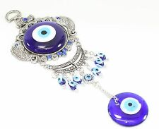 Turkish Blue Evil Eye Fish Amulet Wall Hanging Decor Blessing Protection Gift