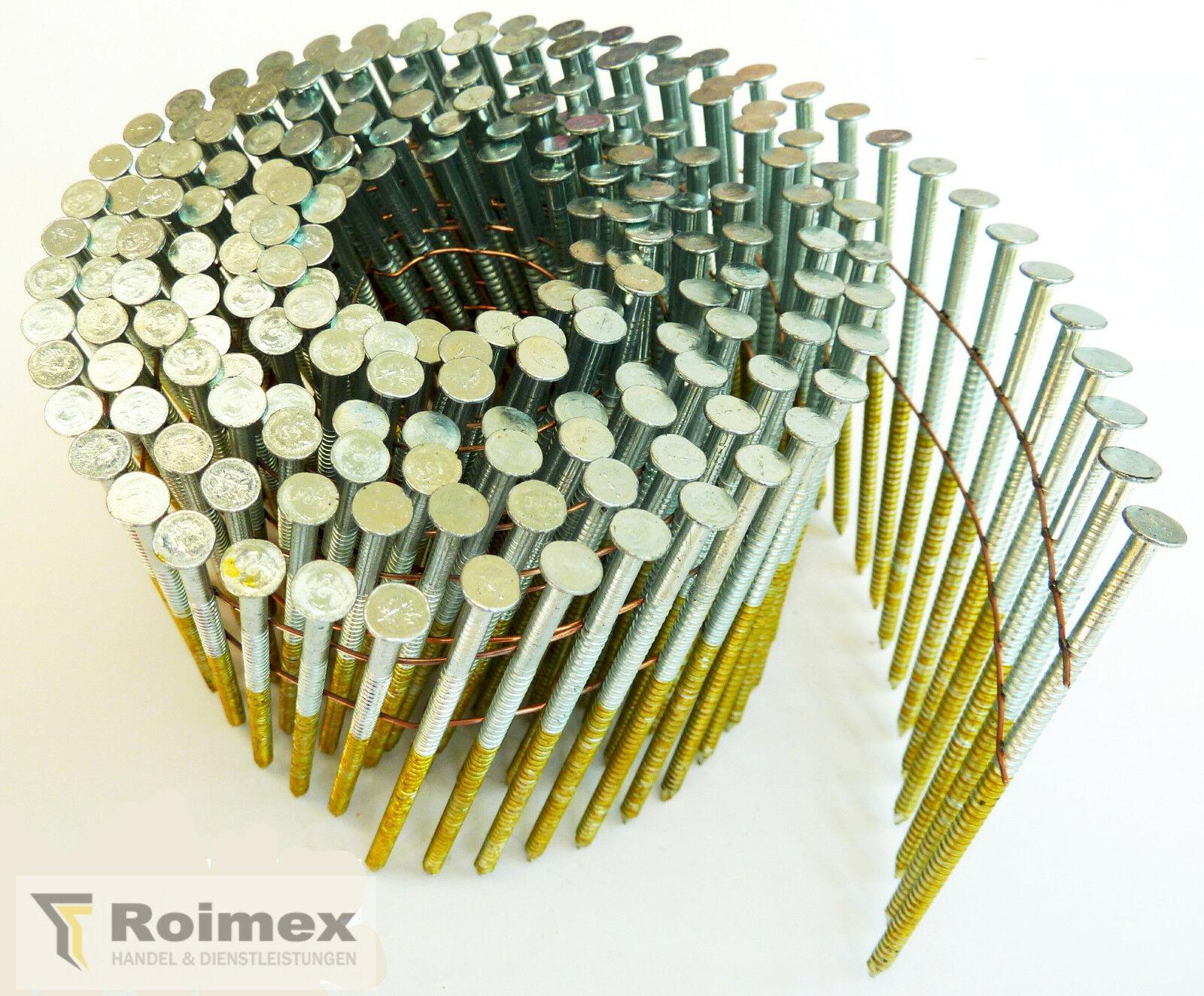 6000 Coilnägel 16° drahtgeb. 2,8x65mm feuerverzinkt 50my HDG RING zertifiziert