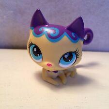 Littlest Pet Shop Yellow & Purple Cat w/ Blue Eyes #3332 - USA seller - 9 pics