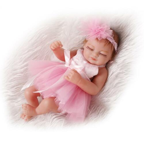 "Reborn Baby Mini 10/"" Handmade Vinyl Silicone Dolls Lifelike Doll Sleeping Girl"