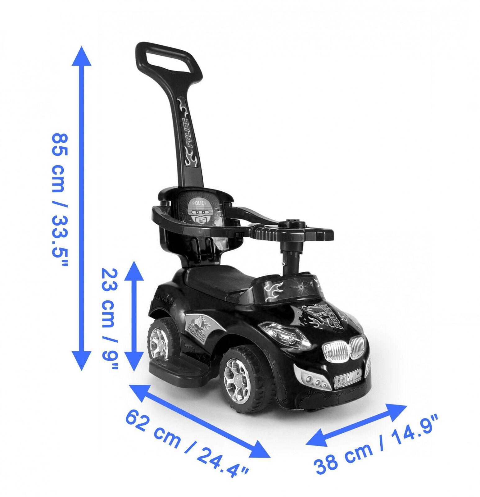3 in 1 Rutscher Rutschauto Kinderauto abnehmbare Schubstange aufklappbarer Sitz