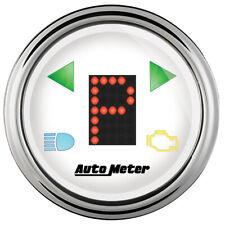 Auto Meter 2 116 Gauge Prndl White Face Chrome Bezel