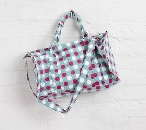 10 x Job Lot Green Spotty Canvas Sports Swimming Gym Bag By Katz Dancewear PP7G