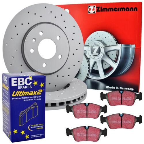 Sport Bremsscheiben Bremsbeläge VW Polo Coupe 1.3 G40 239mm vorne Zimmermann EBC
