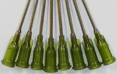 "50pcs Blunt dispensing needles syringe needle tips 1.5"" 14 Gauge luer lock 38MM"