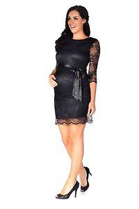 e8a0f3b67a7c4 Image is loading Black-lace-maternity-dress-maternity-evening-dress- maternity-
