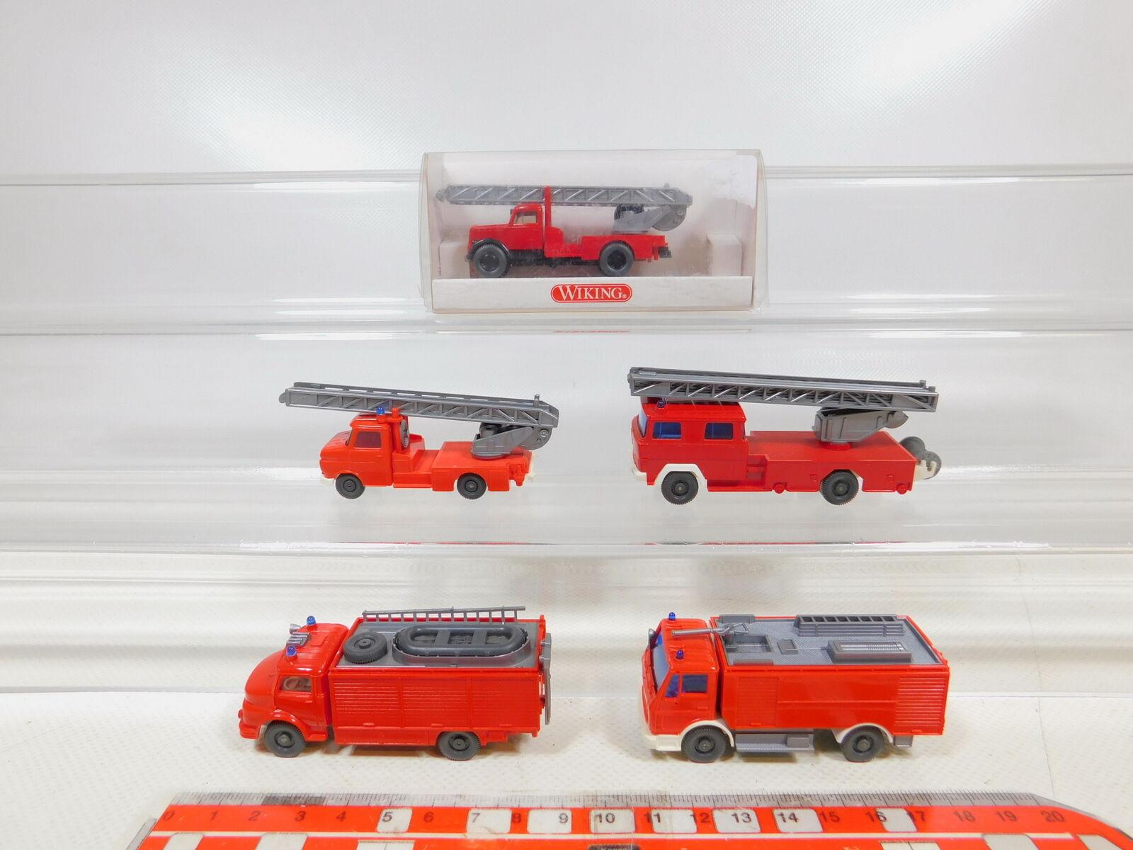 CD353-0,5 x wiking H0   1 87 Fire Brigade Fw-Modell  Vauxhall+Magirus+MB ,Mint
