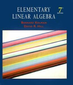 Book elementary linear algebra