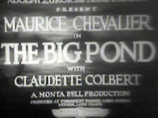 THE BIG POND (DVD) - 1930 - Maurice Chevalier ,Claudette Colbert