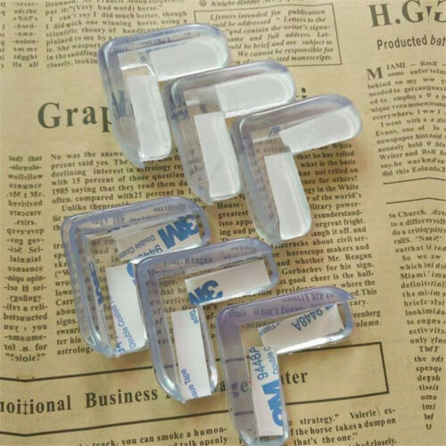 4pcs Clear Table Desk Corner Edge Guard Cushion Baby Safety Bumper Protector