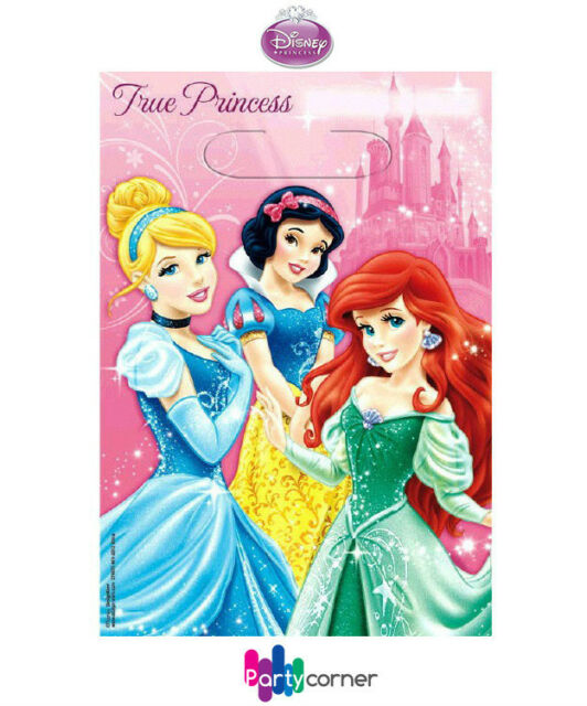 DISNEY PRINCESS PARTY SUPPLIES FAVOURS LOOT BAGS PACK OF 8