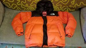b324573530 ... the north face nuptse jacket 379a8 19902 shopping image is loading supreme  x north face nuptse orange m down da88c 3f0d9 ...