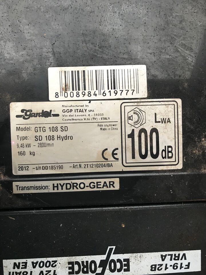 Havetraktor, Gardol GTG 108 SD, 16.5 hk